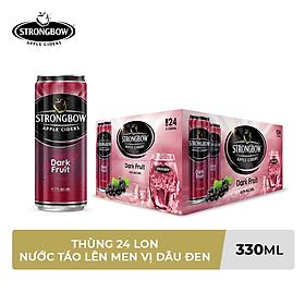 Thùng 24 Lon Cao Strongbow Vị Dark Fruit (330ml / Lon)