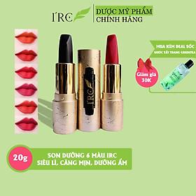 Son dưỡng siêu lì 6 màu IRC 06 Color lipstick giảm thâm, căng mịn chống nứt nẻ, công nghệ khóa màu siêu lì Hàn Quốc