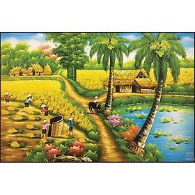 Tranh đính đá Làng Quê Việt ( chưa đính) - 88653