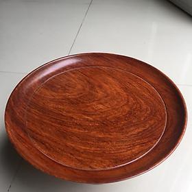 Hình đại diện sản phẩm Đĩa bồng hay đĩa trái cây, đường kính 29cm x cao 14cm, gỗ hương gia lai, dùng trong thờ cúng