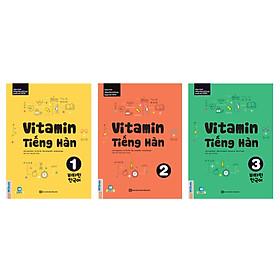 Combo 3 Cuốn: Vitamin Tiếng Hàn 1, 2 Và 3 (Tặng 45 Cấu Trúc Tiếng Hàn Căn Bản Và E-Book Giáo Trình Tiếng Hàn Tổng Hợp) (Học Kèm App: MCBooks Application)