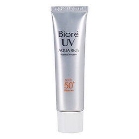Mousse Chống Nắng Dưỡng Ẩm Biore UV Aqua Rich Watery Mousse (33g)