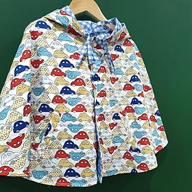 Áo khoác chống nắng 4 mùa kiểu áo cánh dơi poncho cho bé trai bé gái mẫu ô tô nhiều màu cá tính cho bé từ sơ sinh đến 12 tuổi-1