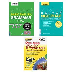 Combo 2 Cuốn Ngữ Pháp Và Bài Tập Ngữ Pháp Tiếng Anh Căn Bản Tặng Kèm Cấu Tạo Từ Tiếng Anh Căn Bản Và Cách Dùng