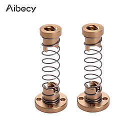 Aibecy 2pcs T8 Lead Screw Nut Anti Backlash Spring Loaded Nut Pitch 8mm Lead 8mm for 3D Printers with T8*8 Lead Screw or