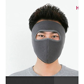 Khẩu trang ninja vải nỉ dán gáy che kín mặt tai chống nắng chạy xe phượt nam nữ hè - khau trang ni