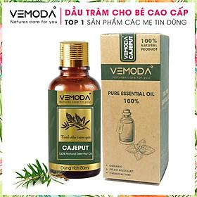 Dầu tràm cho bé cao cấp, an toàn. Tinh dầu Tràm gió Vemoda giúp kháng khuẩn, giữ ấm và chăm sóc bé yêu (Sản phẩm thiên nhiên). Dung tích 50ml
