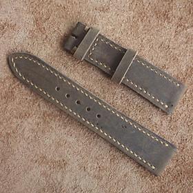 Dây đồng hồ da sáp ngựa điên [ tặng kèm khóa + tool thay dây ]
