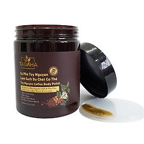 Cà phê làm sạch da chết Tây Nguyên Tabaha 250ml giúp tẩy da chết toàn thân, da sáng mịn, đều màu