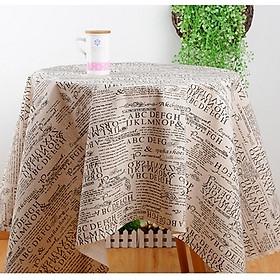 Khăn trải bàn vải bố - Họa tiết Báo chí - mẫu D05
