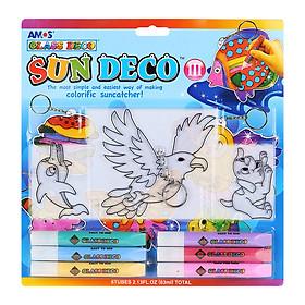 Bộ Bút Vẽ Trang Trí Amos Glass Deco Sun Deco III SD10B6-D2 (400g)
