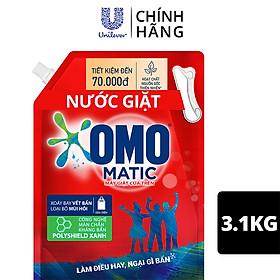 Nước giặt OMO Matic cho máy giặt cửa trên giúp quần áo Sạch bẩn khử mùi toàn diện, túi 3.1kg