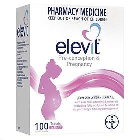 Viên uống Elevit cung cấp vitamin tổng hợp dành cho bà bầu 100 viên (100 ngày) Nhập Khẩu Úc