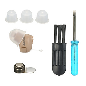 Mini Hearing Aid Small Inner Ear Invisible Sound Amplifier Volume Adjustable Hearing Aids for the Elderly with Storage