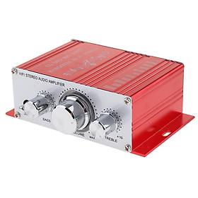 Ampli âm Thanh Nổi Mini Hi-Fi Ampli MP3 20W 12 V Cho Hệ Thống Gia đình ô Tô-Đỏ