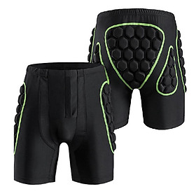 Men's Hip Butt Protection Padded Shorts Armor Hip Protection Shorts Pad for Snowboarding Skating Skiing Riding