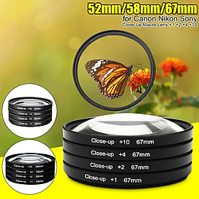 52/58/67mm +1 +2 +4 +10 Close-up Macro Lens Filtes For DC DV DSLR SLR Camera