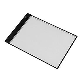 Bàn Rọi Sáng Vẽ Chép Tranh Khổ A4 3 Chế Độ Sáng LED Cổng USB - Đen