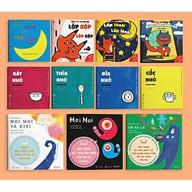 Combo 11 cuốn Ehon dành cho bé từ 0 tuổi (ĐỒ VẬT - MOIMOI VÀ NHỮNG NGƯỜI BẠN - CÁO KEN - CHIẾC MIỆNG CỦA TRỜI ĐÊM)