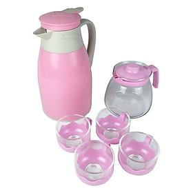 Bộ bình trà kèm 4 ly thủy tinh