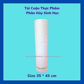 2 Kí Túi Đựng Thực Phẩm Tự Hủy Sinh Học - Dạng Cuộn - Màu Trắng Sữa - 4 size / 2 Kilograms of Bio-degradable Plastic Bag- In Rolls - Color Milk White - 4 Sizes.