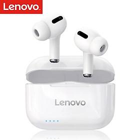 Lenovo LP1S True Wireless Earbuds BT 5.0 Headphones TWS Stereo Earphones with Dual Diaphragms Dual Hosts IPX4 Waterproof