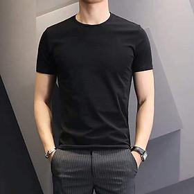 Áo thun nam ngắn tay cổ tròn chất vải cotton 100% chuẩn thiết kế hàn quốc, cực tôn dáng, lịch sự, trẻ trung(ACT)