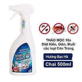 Bình xịt diệt côn trùng Muỗi Kiến Gián Mối Mọt Sinh Học 100% THẢO MỘC 10S - An toàn hiệu quả (Hương Bạc Hà mới )