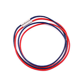 Combo 2 sợi dây vòng cổ cao su - xanh dương + đỏ DCSXDO1