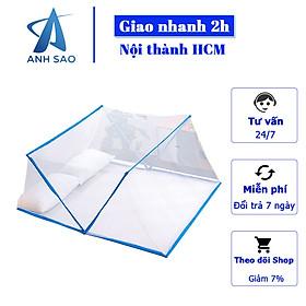 Mùng xếp gấp gọn chống muỗi cao cấp A dùng được cho cả giường 1m6 x 2m và 1m8 x 2m họa tiết hoa lá - thông minh, tiện lợi, tiết kiệm không gian phòng ngủ