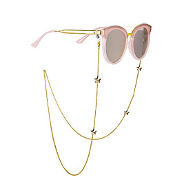 Fashion Star Shape Anti-slip Gold Color Eyeglasses Chain 72CM Gold