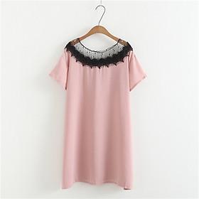 Đầm suông bầu phối ren Haint Boutique HB11