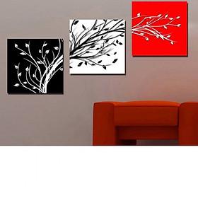 Tranh Canvas treo tường nghệ thuật | Tranh bộ nghệ thuật 3 bức | HLB_220