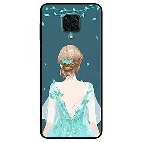 Ốp lưng dành cho Xiaomi Redmi 9s - 9 Pro - 9 Promax mẫu Cô Gái Nền Xanh