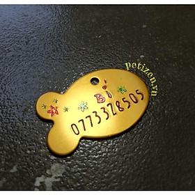 Biểu đồ lịch sử biến động giá bán Bộ Thẻ tên cá kèm vòng cổ chuông cho Mèo