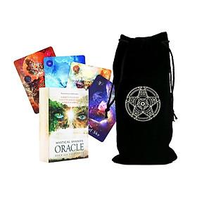 Combo Bộ Bài Bói Mystical Shaman Oracle Cards Tarot Cao Cấp Bản Đẹp và Túi Nhung Đựng Tarot