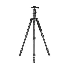 Chân Máy Ảnh Hợp Kim Nhôm KINGJOY G22C + G00 Đen Với Đầu Bóng 360 Độ 5 Phần Có Thể Điều Chỉnh Cho Canon Nikon Sony (144.5cm 8Kg)