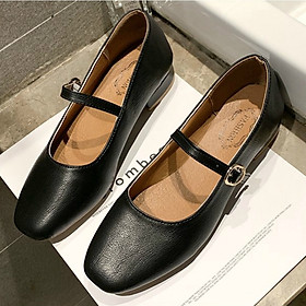 IELGY Retro flat women's shoes Korean version with thick with shallow mouth small shoes women