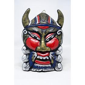 Mặt nạ bằng gỗ trang trí hình Chiến Tướng với nhiều lựa chọn màu sắc