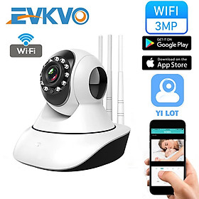 EVKVO - YI LOT APP FHD 3MP Có thể xoay Wireless PTZ IP Camera CCTV WIFI Home Security Surveillance Camera CCTV Infrared Night Vision Baby Monitor Two Way Audio Motion Detection Alarm