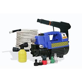 Máy rửa xe áp lực cao, tự hút nước, tặng kèm bình xà phòng