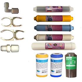Bộ lõi lọc số 1 đến 8 dùng cho máy lọc nước nano