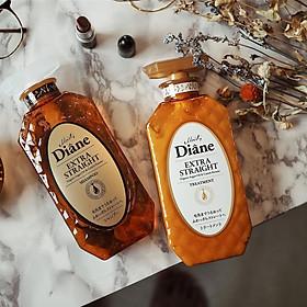 Cặp gội/xả Moist Diane Extra Straight giúp vào nếp, suôn mượt Hàn Quốc (2x450ml) - Dành cho tóc khô,quăn tặng kèm móc khoá-1
