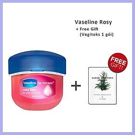 Sáp Dưỡng Môi Vaseline Lip Therapy ( Original Trắng / Rosy Lips Hồng / Creme Brulee Vàng ) 7g + Tặng 1 gói sữa rửa mặt thải độc Super Vegitoks Cleanser 3ml
