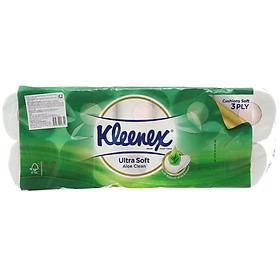 Lốc 10 Cuộn Giấy Kleenex Lô Hội 3 Lớp (10 cuộn x 190 Tờ)