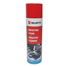 Chai Xịt Tẩy Keo Dính, Keo Dán Decal Wurth Industry Cleaner 500ml 0893140