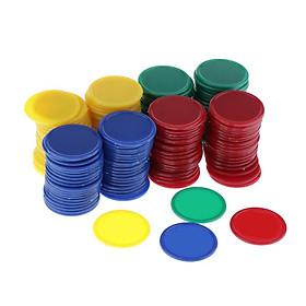 160 Miếng Quầy Tính Chip Nhựa Dấu 36 Mm Hỗn Hợp Màu Sắc Cho Lô Tô Chip Game Cóc Với Hộp Lưu Trữ
