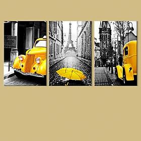 Bộ 3 Tranh Scandinavian Tông Vàng - W270