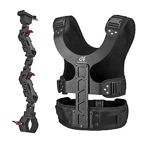 DF DIFITALFOTO THANOS Gimbal Stabilizer Supporting System with Dual-Spring Arm + Load Vest Compatible with DJI Ronin-S/ - Black
