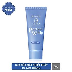 Sữa rửa mặt chiết xuất tơ tằm trắng Senka Perfect Whip 50g
